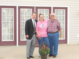 With Ray and Mary Ann La Falce in front of their new home!