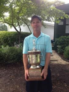 Philip with The 2013 Battle Trophy representing Central Virginia's top amateur golfer
